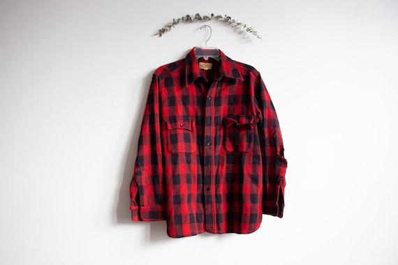 Vintage Duxbak Utica Buffalo Plaid Button jacket