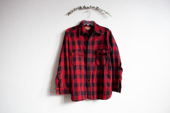 Vintage Duxbak Utica Buffalo Plaid Button jacket