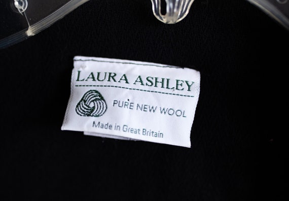 Vintage Black Laura Ashley Dress - image 5