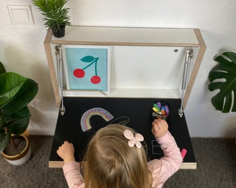 Kids Desk Kids Writing Desk Kids Table ChalkBoard Table Montessori Table Wooden Table Childrens Table Activity Table Kids Furniture Study