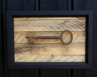 Modern FarmHouse Decor Home Sign Rustic Custom Old Key Wall Vintage Cafe House Gift For Her