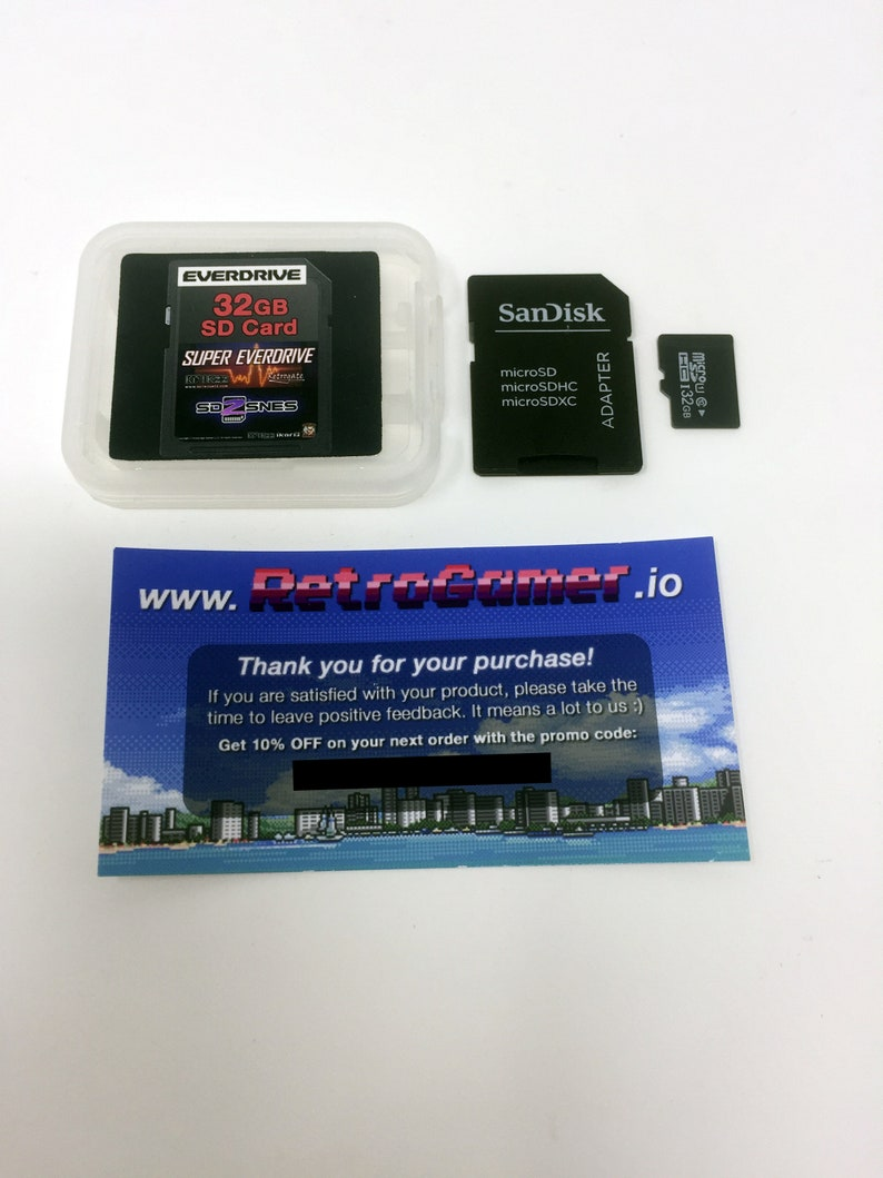 Super Everdrive & SD2SNES 32GB SD Card - SNES Complete Library and Fully  Loaded Super Nintendo Famicom