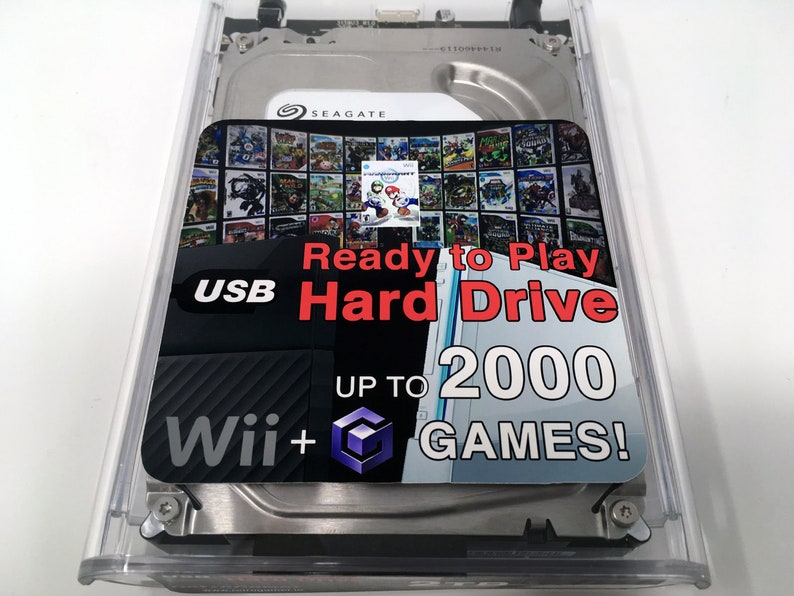 Wii USB Hard Drive - Ready-to-Play with Wii & GameCube Games (USB-Loader  GX, WiiFlow, Homebrew Channel)