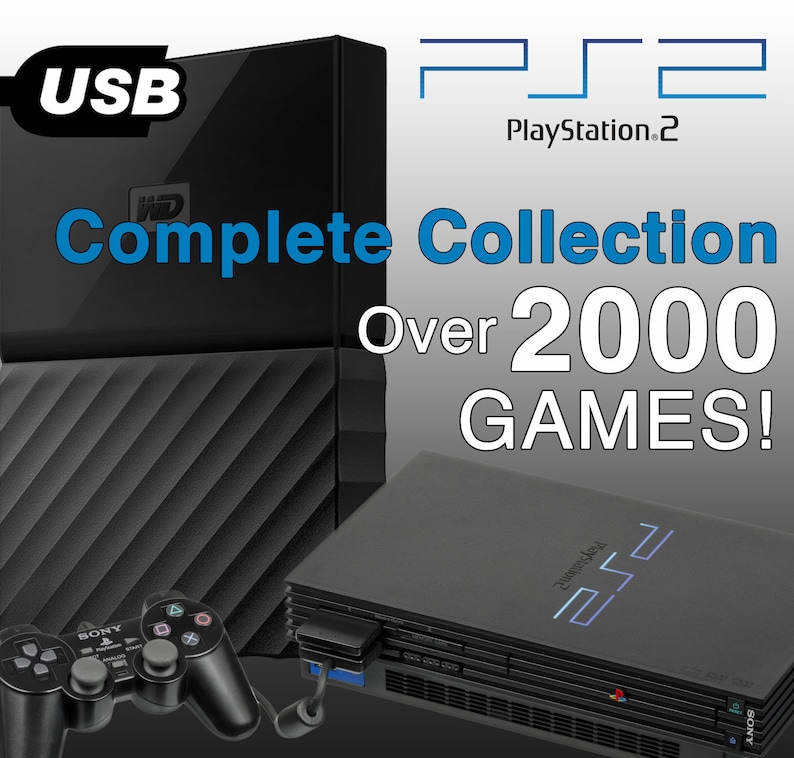 Playstation 2 PS2 External USB Hard Drive - Complete Collection - for  Emulators Modded PS3 PS4 PCSX2 FMCB FreeMcBoot OPL HDLoader Redump
