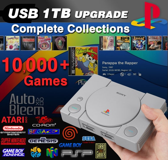 PlayStation Classic 1TB Hard Drive Upgrade - PLUG & PLAY - Complete PS1 +  10,000+ Retro Games (Snes, Gba, N64, Psp, Dreamcast, Sega, Arcade)