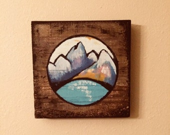 wooden canvas etsy