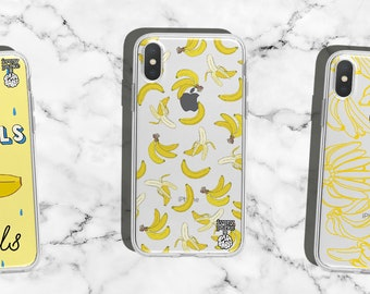 39d1426d3b Banana Fruit Pattern Transparent iPhone Case for X Xr Xs Max 7 8 6s 6 plus  / Bananas Phone Case / Cute Case for Yellow iPhones