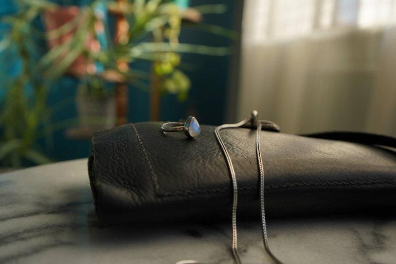 Contemporary moonstone ring