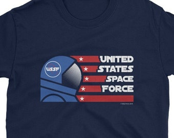 18311a3e3 United States Space Force Astronaut Military Soldier Short Sleeve T-Shirt