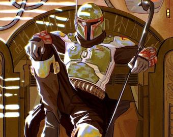 Boba Fett Star Wars The Mandalorian Print