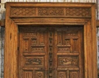 207a208ab6f Antique Indian Moghul Door