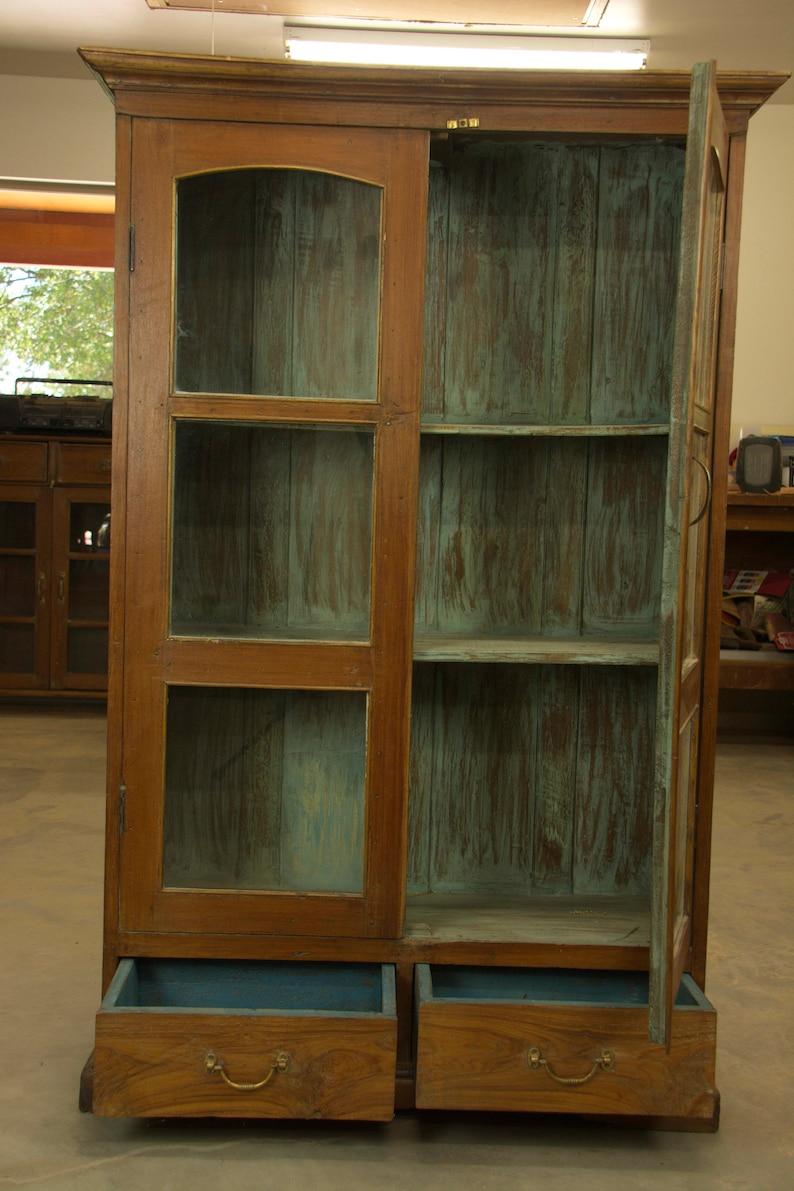 Almirah Cabinet with Glass Doors   Etsy