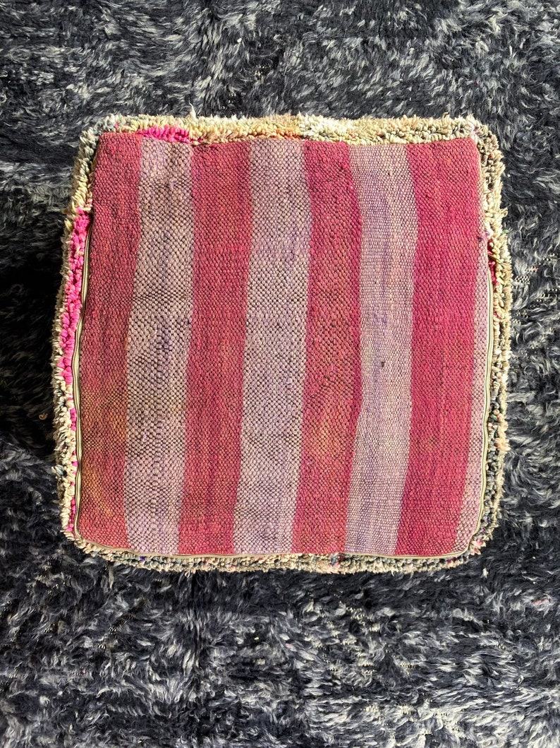 moroccan decorative boujaad Pink Pouf Cover 23x23 inches moroccan rugs