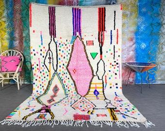 Pink Moroccan Rug, Wool Moroccan Rug, Berber Rug, Pink Wool Rug, Made Moroccan Rug