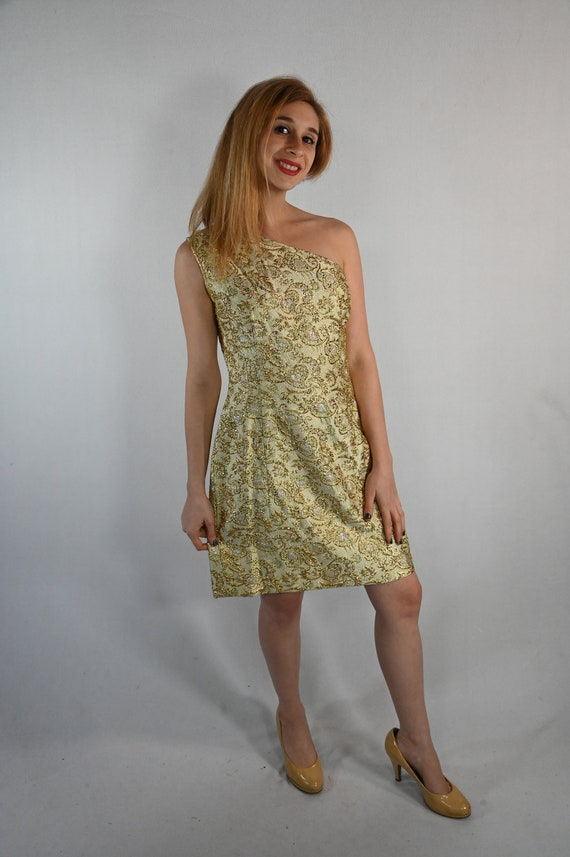 Vintage Gold Lame' Evening Gown