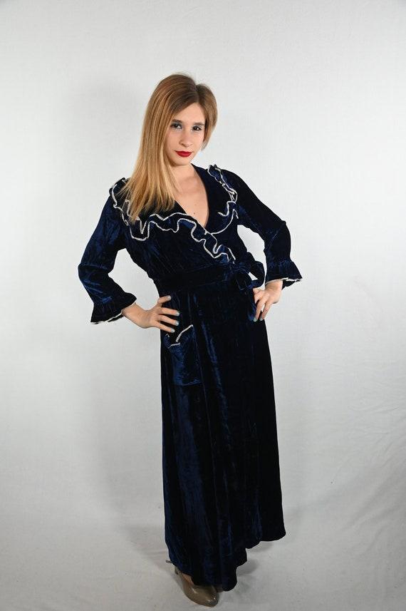 Blue Velvet Robe
