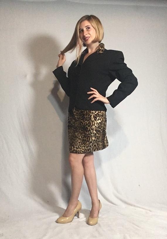 Cheetah Print Suit Set