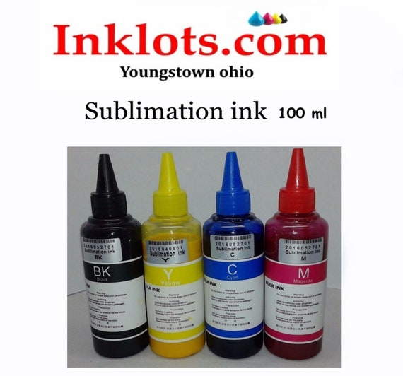 100 ml ( one bottle) sublimation ink for Any Epson printers and wide format  for sublimation heat transfer papers Tshirts Mugs