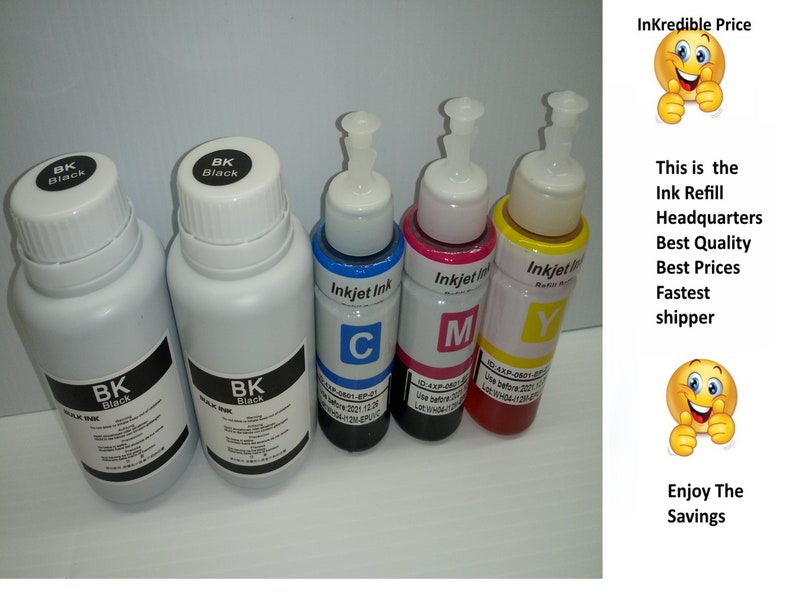 Black refill ink for Epson Eco tank w syringe 79 1400 1430 252 ciss refillable