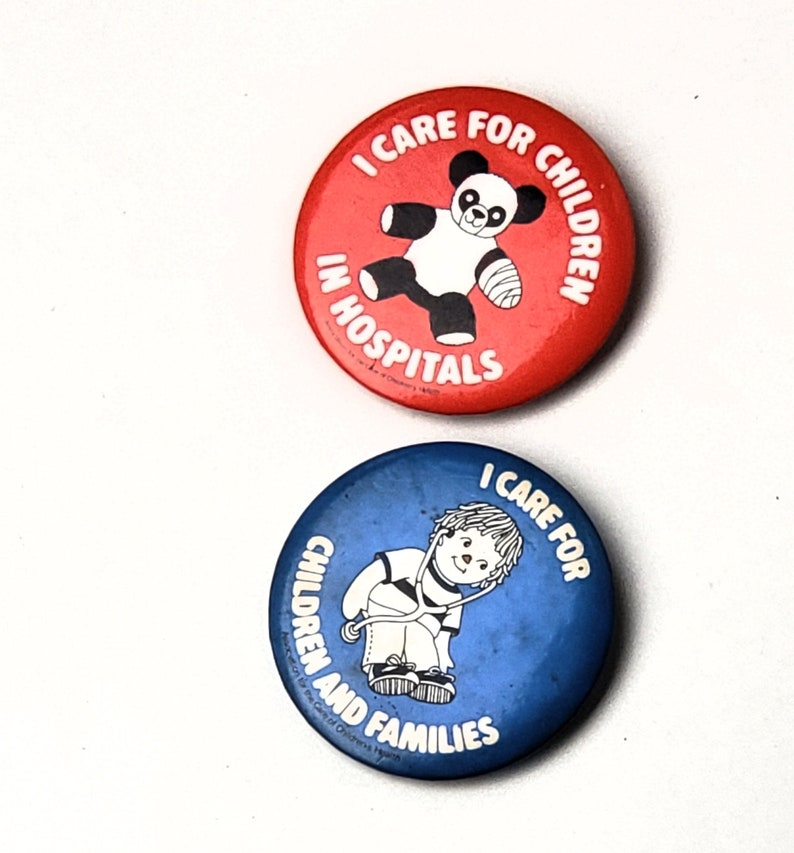 Vintage I Care for Children and families in Hospitals Pin Back