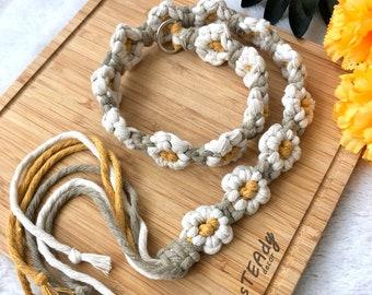 DIY Macrame belt flower design pattern video tutorial, women girl cute boho daisy floral accessories gift, digital instant download