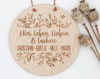 Family sign gift idea for wedding wooden sign name sign family sign