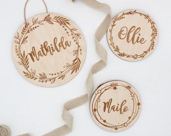 personalized wooden sign name sign kids room wedding gift baby room door sign Ellizshop