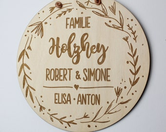 FAMILY SCHILD wooden sign personalized wedding sign ellizshop