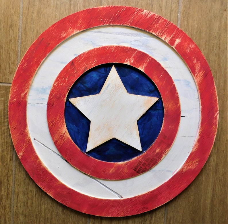 Captain America Shield Wooden Wall Decoration Sign