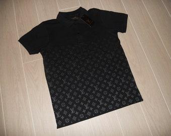 27121721e Black T-shirt Louis Vuitton, Size S-2XL, Cotton, BNWT