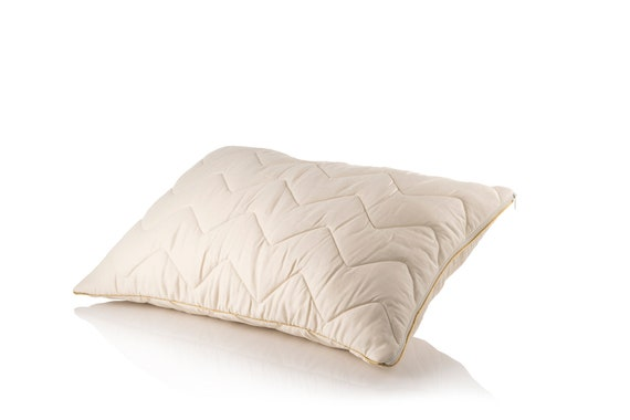 Best Pillow.Pure Lambswool Quilted Pillow Gold Line Best Pillow For Neck Etsy