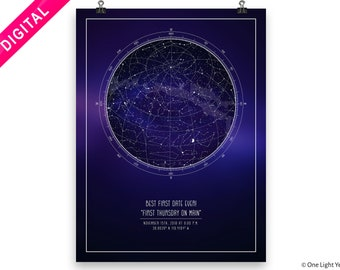 Family gift Birthday card Special date print Map memory Custom Star map Best day ever Father and Mother gift Anniversary gift ideas