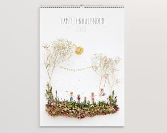 2019! Family calendar 2019! *A3* 5 columns * Waldorf calendar * Waldorf * family planner * nature * wall calendar * calendar *