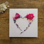 Greeting Card * Heart * Flower heart * Love * Thanksgiving * Valentine's Day * wedding * Wedding Card * Floral * Folding Cards * Postcard