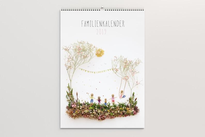 2019 Family calendar 2019 A3 5 columns  Waldorf calendar image 0