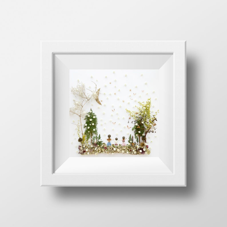 Mother father child  print  winter picture  image 0