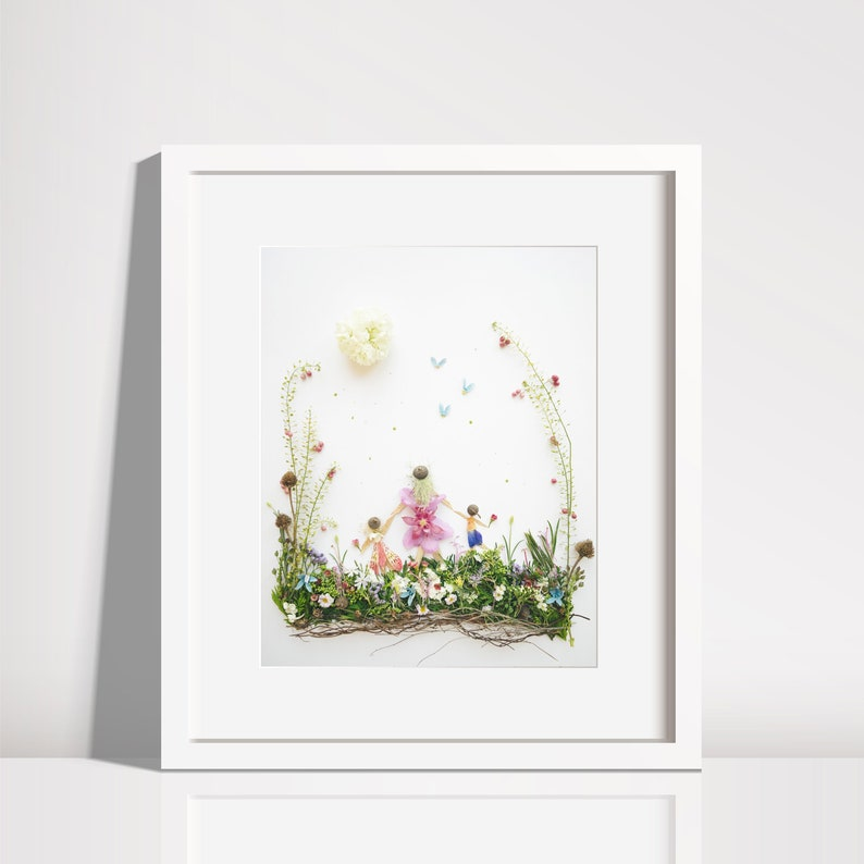 Mother with two children  Print  Gift to Birth  image 0