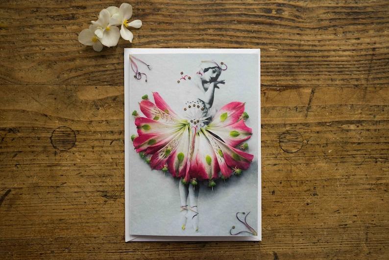 Greeting Card  Folding Chart  Postcard  Ballet  dancer  image 0