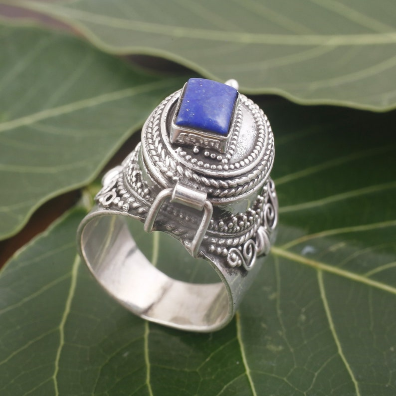 sterling ring 92.5/% sterling silver ring Open design Lapis Lazuli gemstone silver ring handmade ring Lapis Lazuli gemstone ring rings