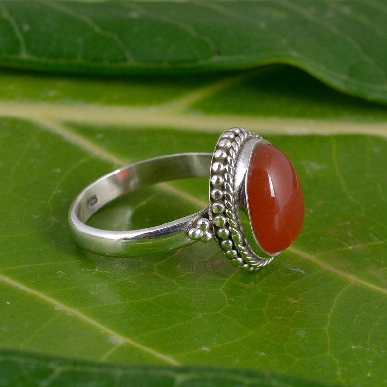 orange ring 925 sterling ring handmade ring Quality Caroline ring silver ring A men like ring gemstone ring