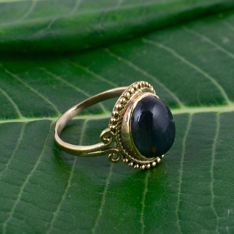 Moonstone Gemstone Ring,Gemstone Ring,Brass Ring,Handmade Ring,Statement Ring,Mes/'s Ring,Women ring,Gift For Her,Boho Ring,Vintage Jewelry
