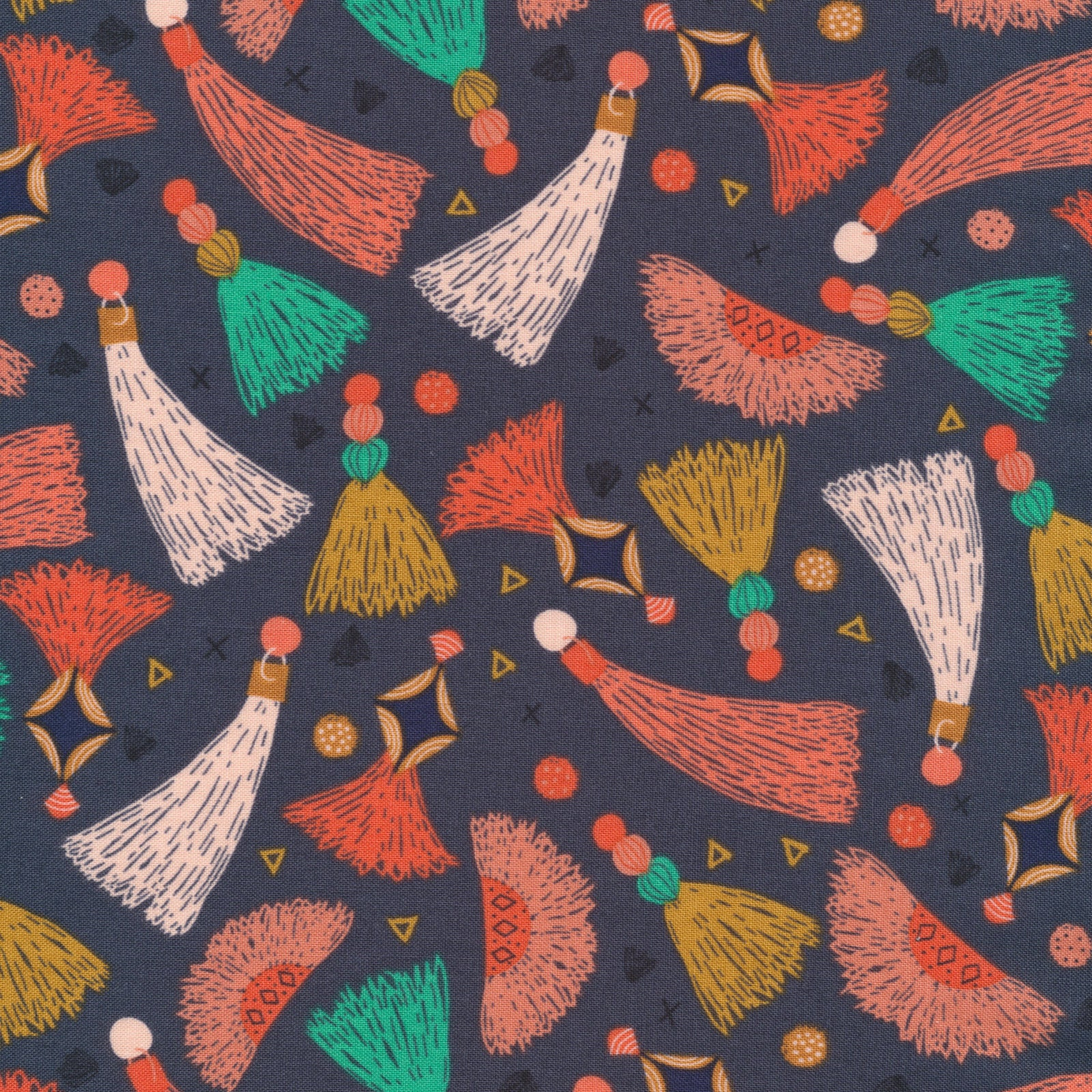 Cloud Nine Free UK Postage Modern Organic Cotton Organic Cotton Fabric /'Forest Jewels Dark Blooms /' Cloud9 Quilters Cotton