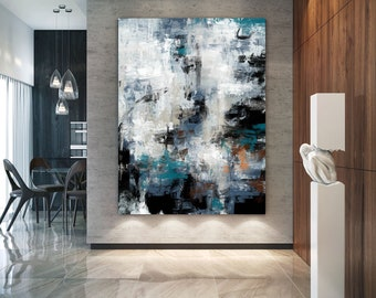 Extra Large Wall Art Textured Painting Original Painting d087243479