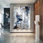 Large Abstract Painting,Modern abstract painting,oil hand painting,office wall art,original abstract,textured art BN0023