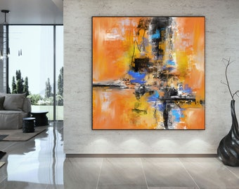 Extra Large Wall Art Palette Knife Artwork Original Painting,Painting on Canvas Modern Wall Decor Contemporary Art, Abstract Painting Pac293