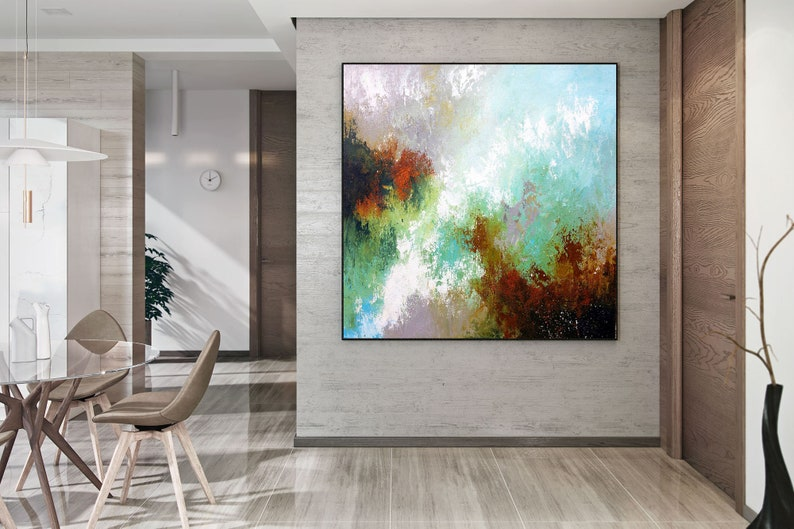 Large Abstract Painting,Modern abstract painting,bright painting art,knife oil painting,abstract painting,acrylic textured DAc007
