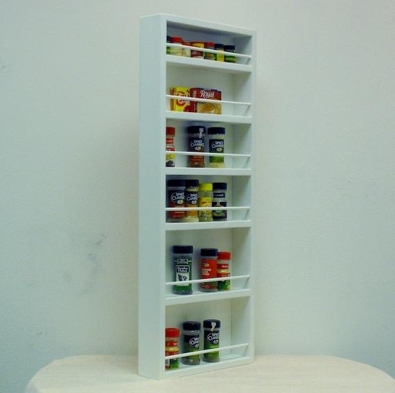 Door Mounted White Spice Rack Pantry Door Closet Door Hollow Core Door Soild Wood Door Or Wall Mounted