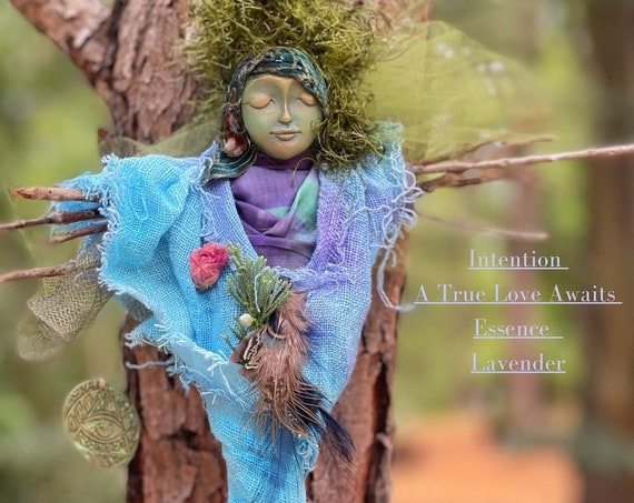 Handmade Spirit  Doll  - Housewarming Gift for Friend - Doll- Spirit Doll Gift - Going Away Gift - Kitchen Witch Doll- Spirit Art Dolls