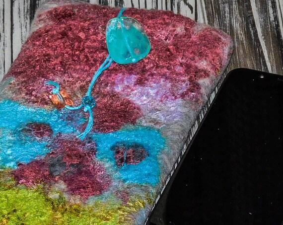 i phone xr case, handmade felted case,sunglass case,phone case, merino wool case, soft case, iphone case,birthday gift, gift