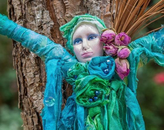 Art Doll,Art,Dolls,WalArt, Doll,Boho, Witch,Kitchen Decor,Wall Decor,Home Decor,Personalized Gift,Home,Doll,Bathroom,Farmhouse Decor,kitchen